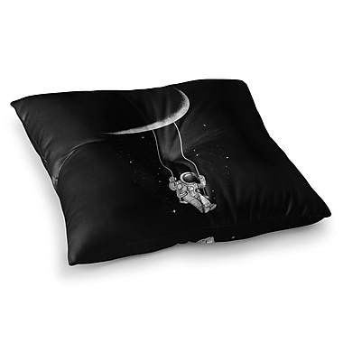 East Urban Home Moon Swing Fantasy Illustration by Digital Carbine Floor Pillow; 26'' x 26''