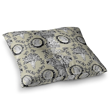 East Urban Home Imperial Palace by DLKG Design Floor Pillow; 23'' x 23''