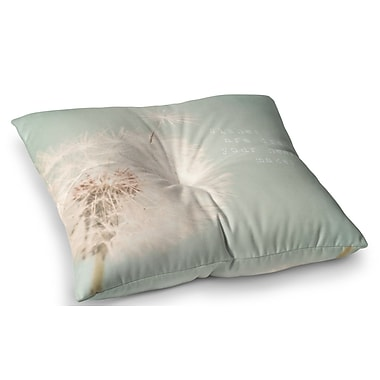 East Urban Home Wishes are Dreams Fuzzy by Debbra Obertanec Floor Pillow; 26'' x 26''