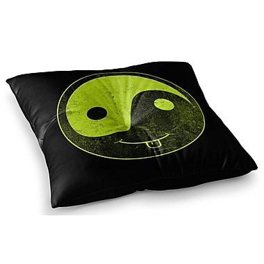 East Urban Home Bad Ass Ying Yang by Frederic Levy-Hadida Floor Pillow; 23'' x 23''