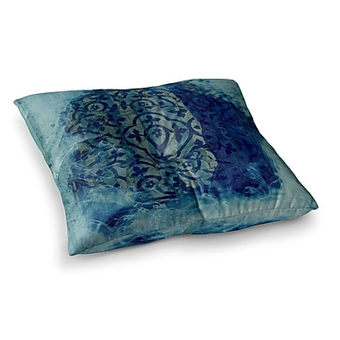 East Urban Home Mosaic in Cyan by Frederic Levy-Hadida Floor Pillow; 23'' x 23''