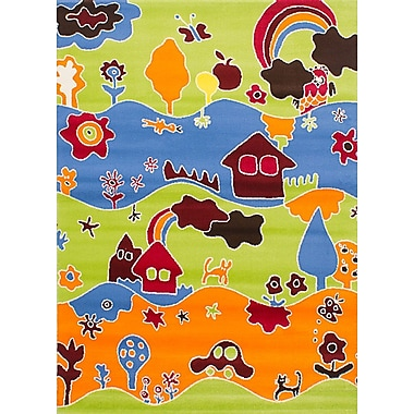 Zoomie Kids Luann Light Green Picture Area Rug