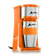 AdirChef Grab and Go Personal Coffee Maker w/ 15 oz. Travel Mug; Orange