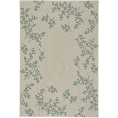 August Grove Jacqueline Winterberry Blue Outdoor Area Rug; 3'11'' x 5'6''