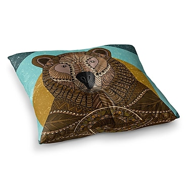 East Urban Home Bear in Grass by Art Love Passion Floor Pillow; 26'' x 26''