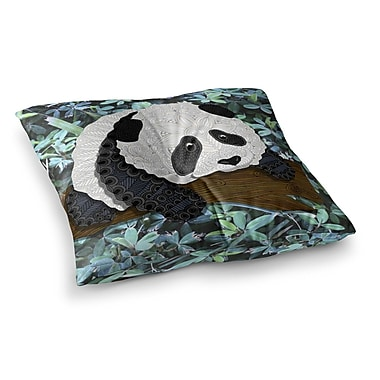 East Urban Home Panda by Art Love Passion Floor Pillow; 26'' x 26''