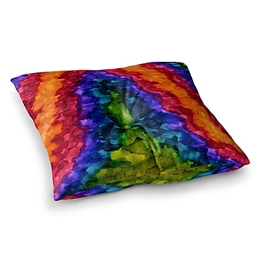 East Urban Home Illusions Abstract Painting by Claire Day Floor Pillow; 23'' x 23''