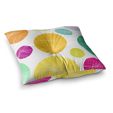 East Urban Home Eolo Circles by Anchobee Floor Pillow; 26'' x 26''