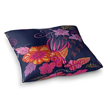 East Urban Home Tropical Paradise Floral by Anneline Sophia Floor Pillow; 26'' x 26''