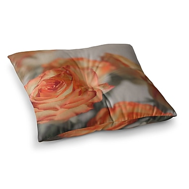 East Urban Home Roses Floral by Angie Turner Floor Pillow; 26'' x 26''