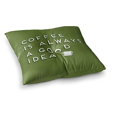 East Urban Home Good Idea Tyopgraphy by Busy Bree Floor Pillow; 23'' x 23''