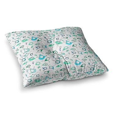 East Urban Home Birdies by Anchobee Floor Pillow; 26'' x 26''