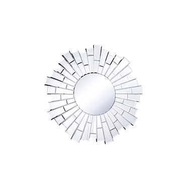 Everly Quinn Naoma Modern Sunburst Glass Wall Mirror; 23.5'' H x 23.5'' W x 0.8'' D