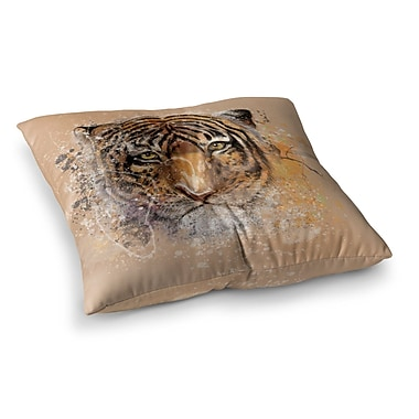 East Urban Home My Tiger by Geordanna Cordero-Fields Floor Pillow; 26'' x 26''