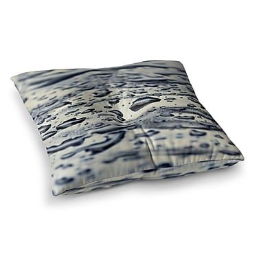 East Urban Home Ice Raindrops by ingrid Beddoes Floor Pillow; 26'' x 26''