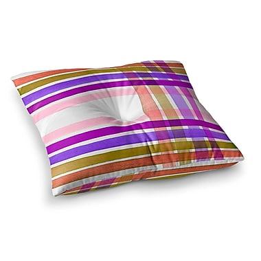 East Urban Home Plaid Stripes in Color 6 by Ebi Emporium Floor Pillow; 23'' x 23''