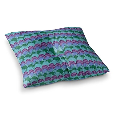 East Urban Home Woodland Waves by Jane Smith Floor Pillow; 26'' x 26''