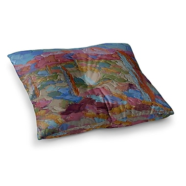 East Urban Home Saguaros in Spring by Jeff Ferst Floor Pillow; 23'' x 23''