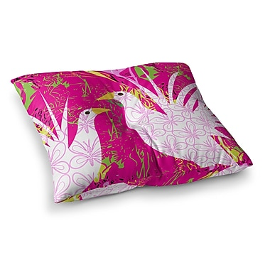 East Urban Home Fruit Birds by Pattern Muse Floor Pillow; 23'' x 23''
