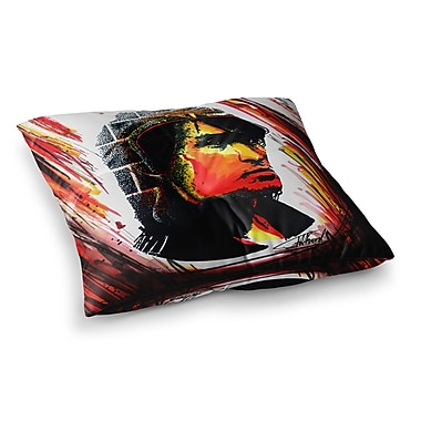 East Urban Home Tsoi is Alive People by Ivan Joh Floor Pillow; 26'' x 26''