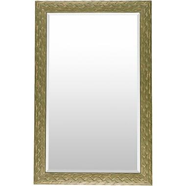 Gracie Oaks Grove City Rectangle Aqua Wall Mirror