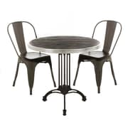 Williston Forge Annalise Modern Metal Bistro Stacking Patio Dining Chair; Gray