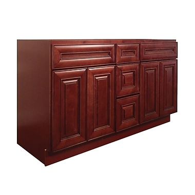 NGY Stone & Cabinet Maple 60 Double Bathroom Vanity Base
