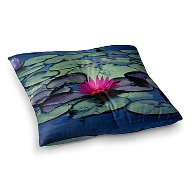 East Urban Home Twilight Water Lily by Ann Barnes Floor Pillow; 26'' x 26''