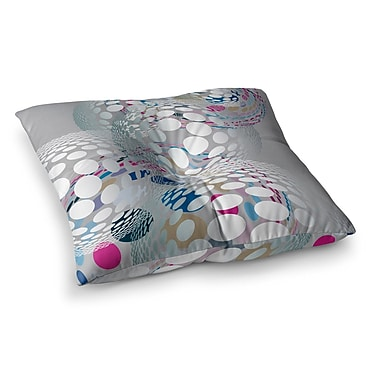 East Urban Home Bubbly Illustration by Angelo Cerantola Floor Pillow; 23'' x 23''