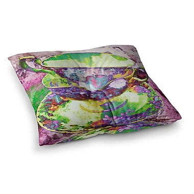 East Urban Home Mad Hatters T-Party II by Alyzen Moonshadow Floor Pillow; 23'' x 23''