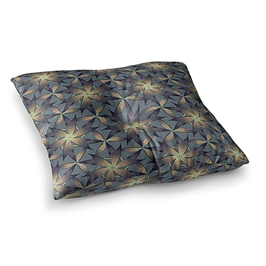 East Urban Home Copper Flowers Illustration by Angelo Cerantola Floor Pillow; 26'' x 26''