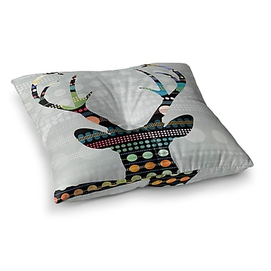 East Urban Home Pop Deer by Angelo Cerantola Floor Pillow; 26'' x 26''
