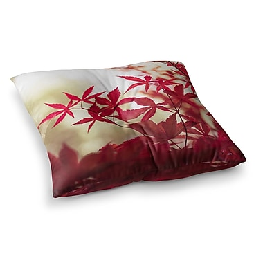 East Urban Home September Afternoon Leaves by Ann Barnes Floor Pillow; 23'' x 23''
