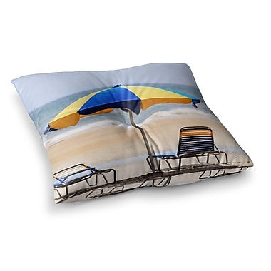 East Urban Home Umbrella Coastal Photography by Angie Turner Floor Pillow; 23'' x 23''