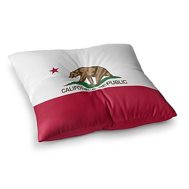 East Urban Home California State Flag by Bruce Stanfield Floor Pillow; 26'' x 26''