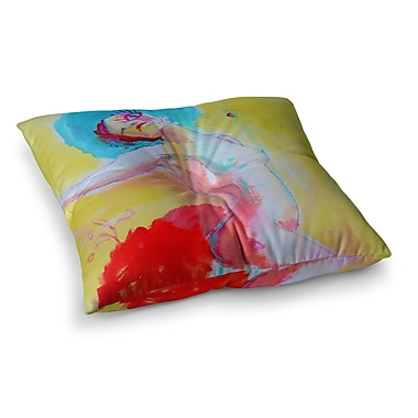 East Urban Home Circus Illustration by Cecibd Floor Pillow; 23'' x 23''
