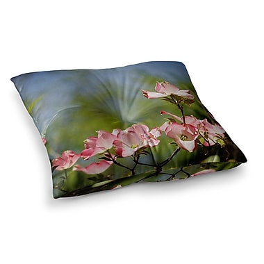 East Urban Home Dogwood Digital Floral by Angie Turner Floor Pillow; 26'' x 26''
