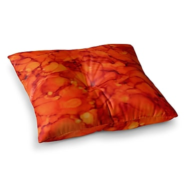 East Urban Home Orange by Claire Day Floor Pillow; 26'' x 26''