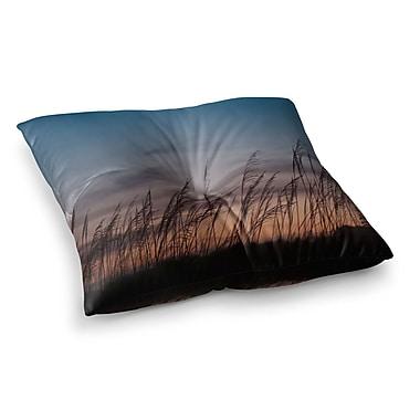 East Urban Home Sunset on the Beach by Catherine McDonald Floor Pillow; 23'' x 23''