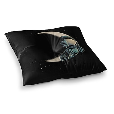 East Urban Home Crescent Moon Illustration by Digital Carbine Floor Pillow; 23'' x 23''