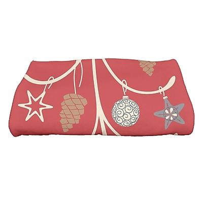 Highland Dunes Yerang Pinecone Tree Bath Towel; Coral