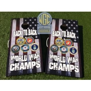 WestGeorgiaCornhole Back to Back World War 10 Piece Cornhole Set