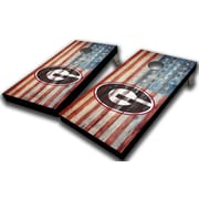 WestGeorgiaCornhole University of Georgia American Flag 10 Piece Cornhole Set