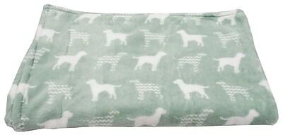 Thro by Marlo Lorenz Dog Chevron Printed Flannel Fleece Pet Throw