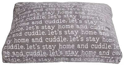 Thro by Marlo Lorenz Cuddle Words Printed Flannel Fleece Dog Pad