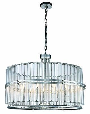 Astoria Grand Tiemann 9-Light LED Foyer Pendant; Antique Silver Leaf