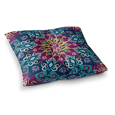 East Urban Home Blooming Mandala by Amanda Lane Floor Pillow; 26'' x 26''