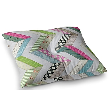 East Urban Home Fabric Much? Cloth by Heidi Jennings Floor Pillow; 26'' x 26''