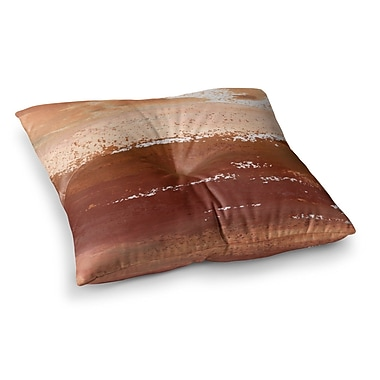 East Urban Home Cinnamon Chai Painting by Iris Lehnhardt Floor Pillow; 26'' x 26''