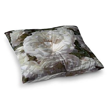 East Urban Home Flores Blancas Nature by Julia Grifol Floor Pillow; 23'' x 23''